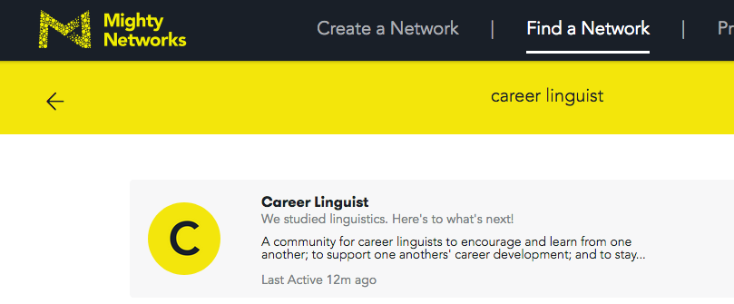 the cl mighty network career linguist