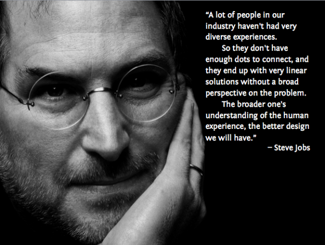 Steve Jobs broad perspective