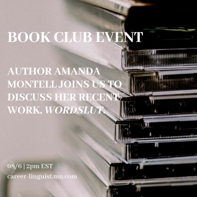 Book Club 08_6 _ 2pm EST career-linguist.mn.com